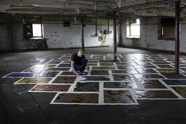 Maurice Carlin at work on Temporary Custodians of Islington Mill, 2018-2028