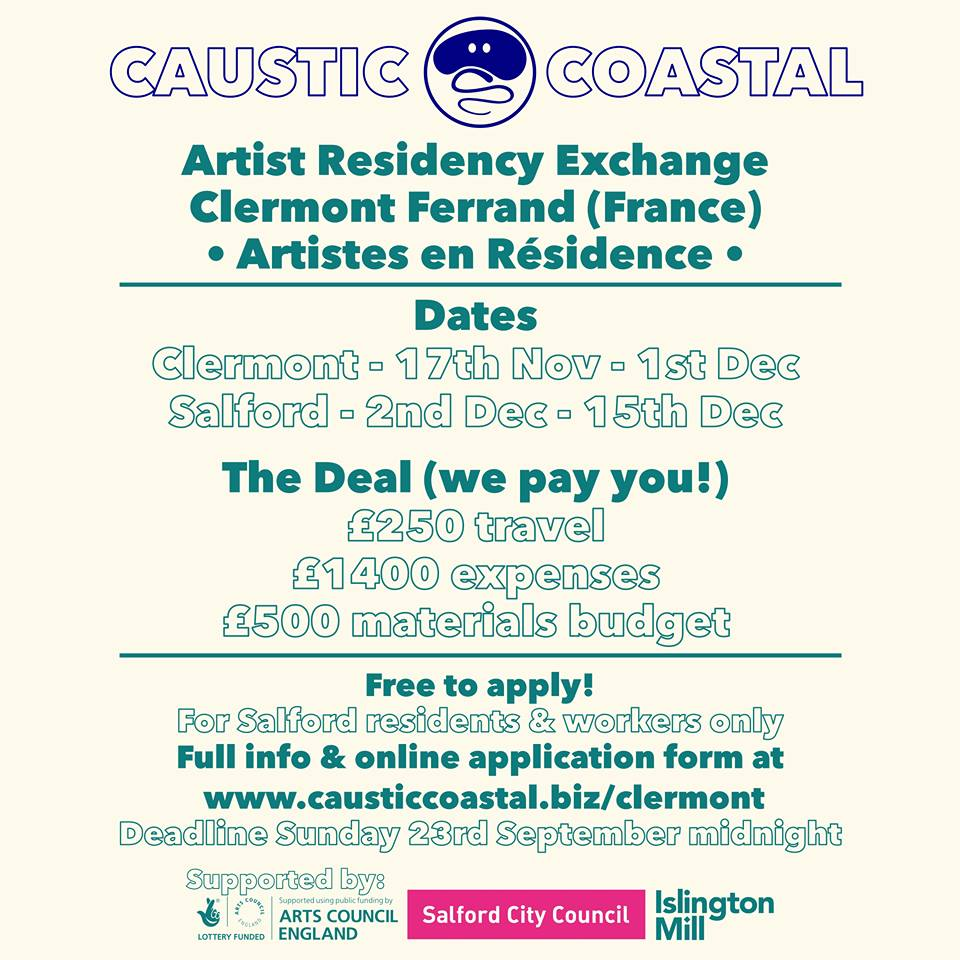 ARTIST RESIDENCY EXCHANGE // Caustic Coastal & Clermont Ferrand
