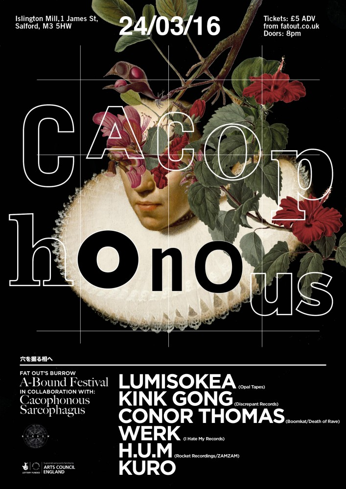 A-Bound Festival Day Two: Cacophonous Sarcophagus presents Lumisokea, Kink Gong, H.U.M, WERK, Conor Thomas (DJ set)