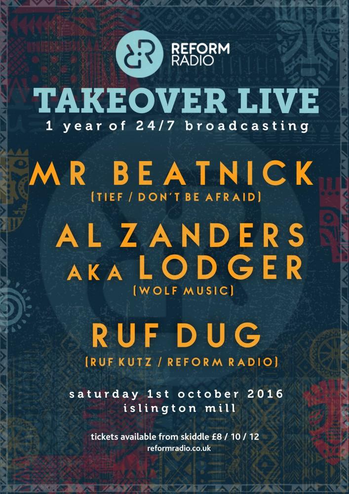 REFORM RADIO presents TAKEOVER LIVE