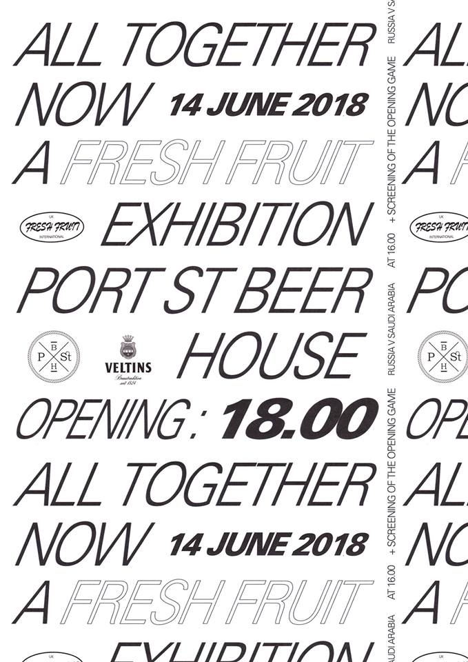 """Fresh Fruit exhibition """"All Together Now"""" @ Port Street Beer House"""