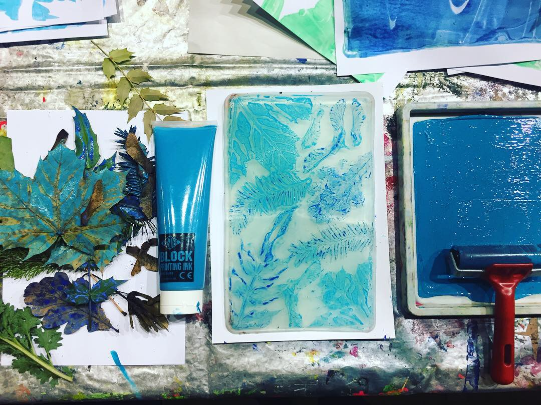 Salford Makers / Introduction to Gel Plate Printing with Natural Form / Half Day Workshop